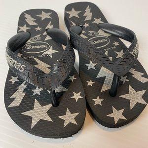Kids Havaianas Thongs Size 9/10 EUR 27/28. Stars